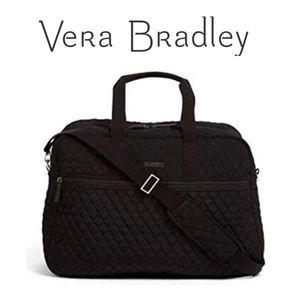 🆕 NWT Vera Bradley Black Grand Traveler Bag